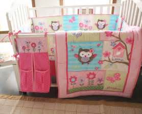Baby Bedding Owl Baby Bedding Crib Cot Bumpers Quilt Sheet Set 8