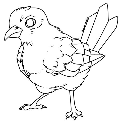 line drawing sketches rq bird lineart by abyssinchaos on deviantart