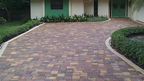 Ideas For Installing Patio Pavers Decor Tips Driveway Pavers With Edge And Hedge Also Garden Landscape With Front Entry Doors