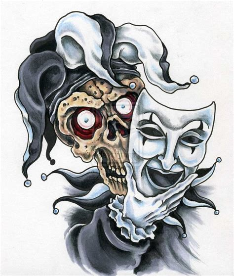 joker skull tattoo designs 116 best images about jester joker card on
