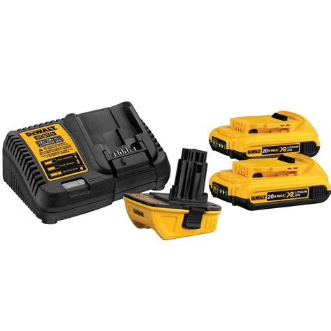 dewalt 20 volt max battery adapter kit for 18 volt tools