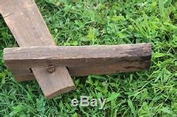 antique woodworking bench shaving horse draw knife stanley