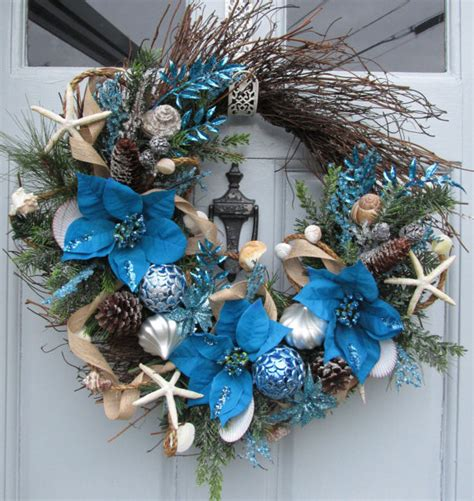 coastal christmas wreath beach wreath seashore wreath