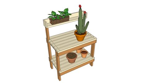 potting bench woodworking plans diy potting table plans woodguides