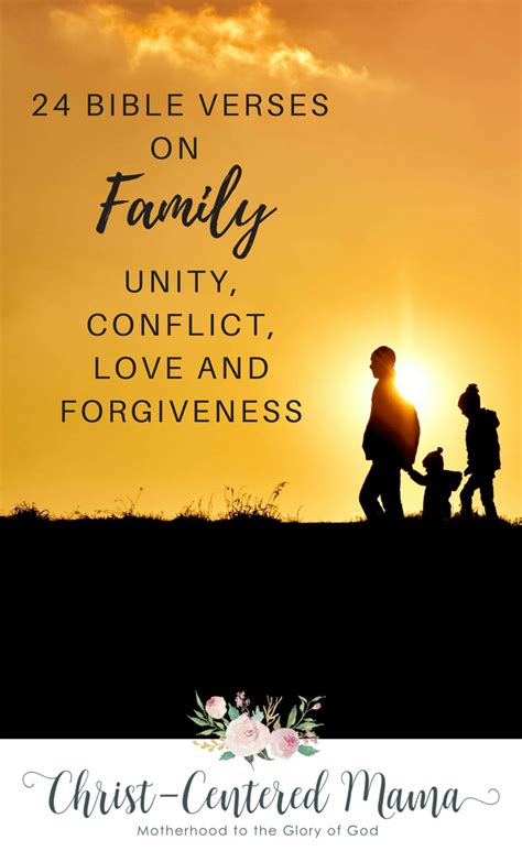 bible verses  family unity bible verses  family conflict bible verses  family