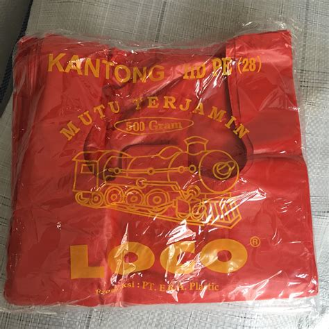 Kantong Plastik Loco Hd Pe 17 24 35 40 jual kantong plastik merah loco thermo plastik