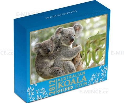 2012 australien 1 silber koala vergoldet e mince cz