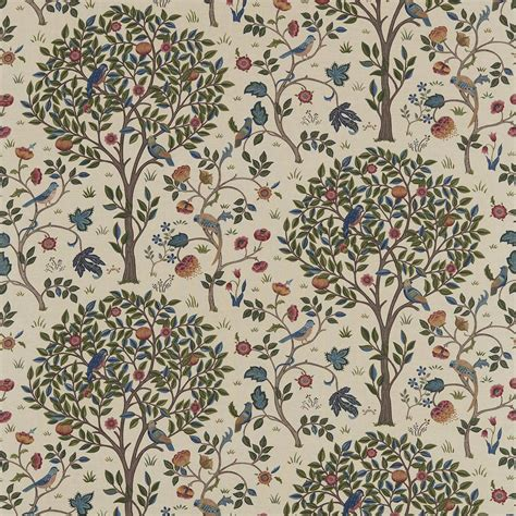 Colours For Home Interiors by Kelmscott Fabric Woad Wine 220327 William Morris