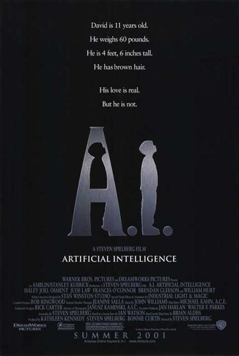 artificial intelligence a i artificial intelligence movie posters from movie