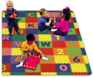 Children S Floor Mats Style 1311 Play And Learn Tiles A Z And 0 9 Childrens