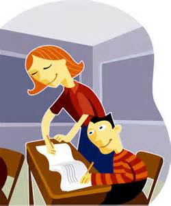 White Desk Amazon Stock Illustration A Teacher Helping Her Student In The