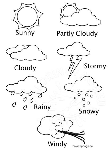 weather coloring pages for toddlers weather coloring sheets printables coloring page