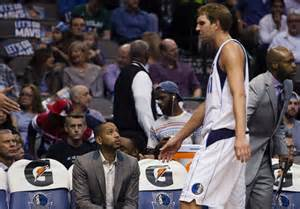 mavs bench dirk nowitzki quot unlikely quot to come off bench for dallas