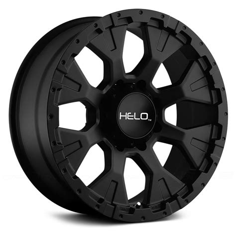 HELO® HE878 Wheels Satin Black Rims