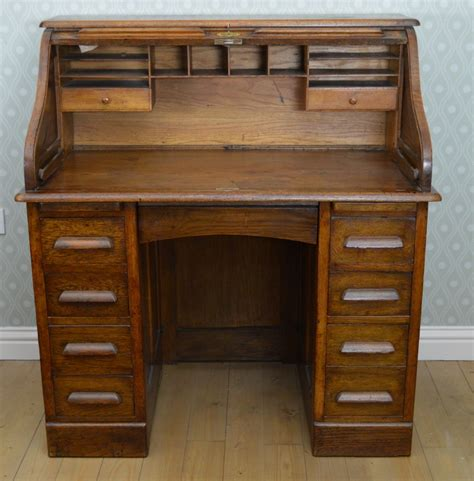 wooden roll top desk oak roll top desk 254513 sellingantiques co uk