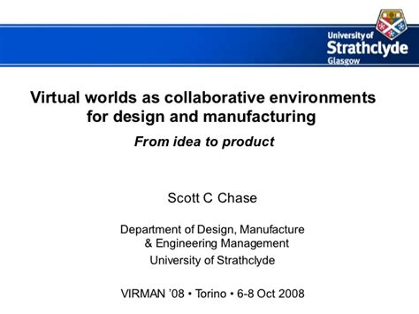 design for manufacturing slideshare virtual worlds as collaborative environments for design