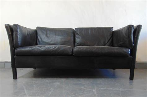 sofa kingdom 1960 s vintage danish black leather sofa kingdom