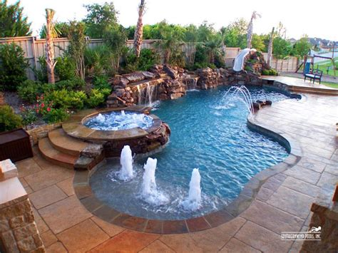 backyard pool and spa best 25 pool waterfall ideas on pool with