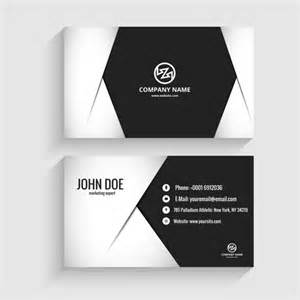modern business card in monochromatic style vector free