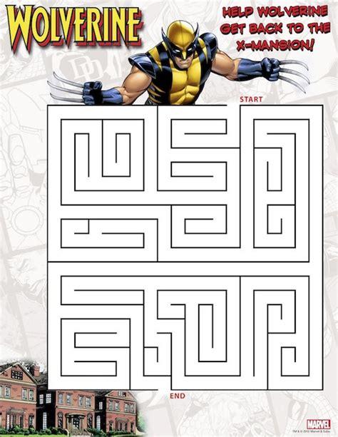 printable batman maze free superhero printables wolverine printable maze also
