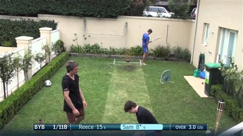 backyard cricket pitch backyard bash league group stage youtube