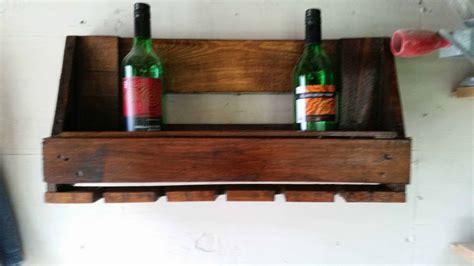 Euro pallet wine rack amp glasses holder 1001 pallets