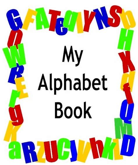 printable alphabet book 5 best images of printable alphabet book cover printable