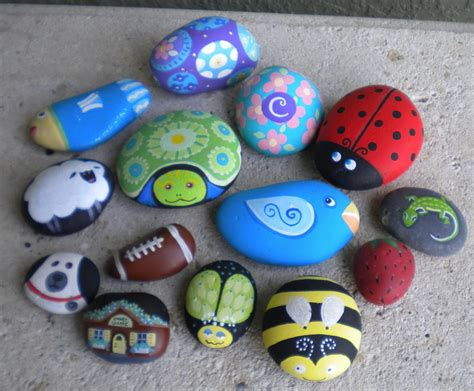 rock craft projects crafts painted mailbox ideas on