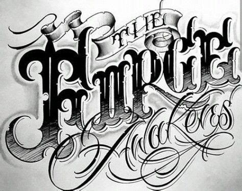 tutorial lettering chicano 71 best tattoo fonts images on pinterest typography