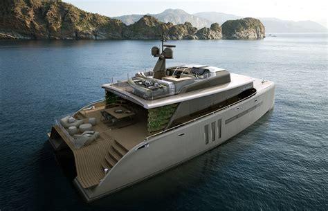 grey layout boat catamaran
