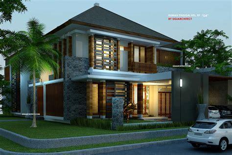 desain rumah joglo 2 lantai desain villa rumah tropis kolam renang amazing