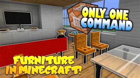 In Furniture by Furniture In Minecraft No Mods Only One Command Block