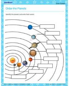 Order the planets free planet worksheet for primary grades