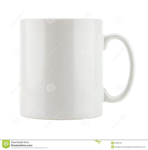 Mug Single Empty white mug empty blank royalty free stock photography