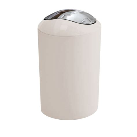 bathroom bins kleine wolke glossy swing bin snow white 5063 114