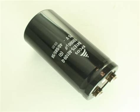 epcos capacitor bank catalogue b41875 a0109 q epcos capacitor 10 000uf 75v aluminum electrolytic large can computer grade