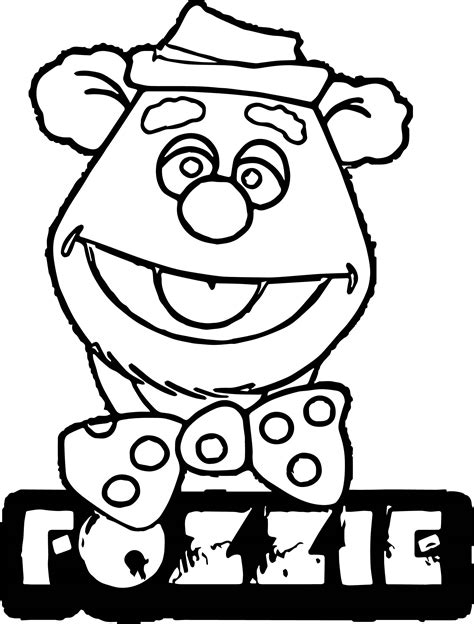 bear fozzie coloring page wecoloringpage
