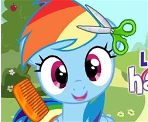 games haircut my little pony rainbow dash hair salon my little pony games
