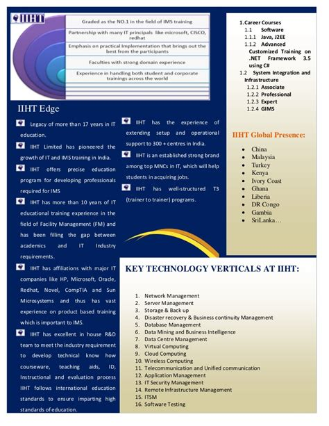 company profile design bangalore iiht limited bangalore company profile
