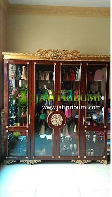 Lemari Kaca Untuk Sepatu lemari hias kaca cristal jati pribumi
