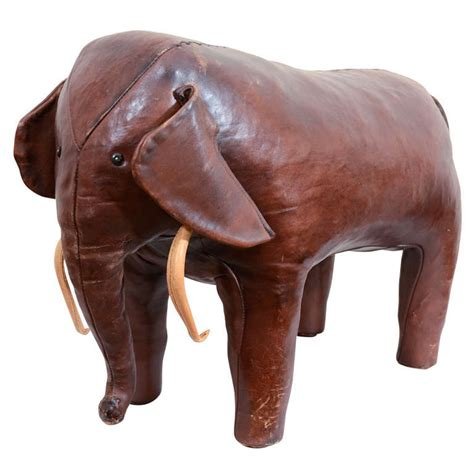 leather elephant ottoman vintage abercrombie and fitch leather elephant at 1stdibs