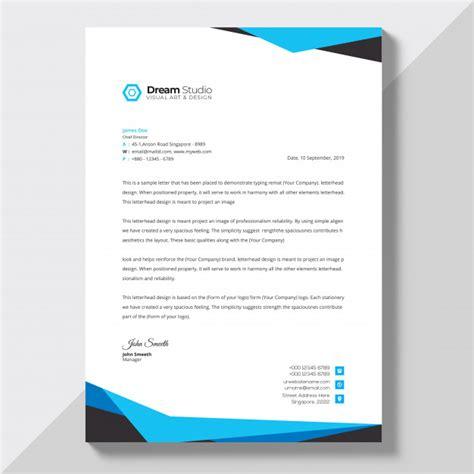 letterhead vectors stock psd