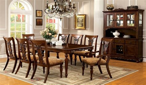 Solid Wood Formal Dining Room Sets Seymour 7pc Formal Dining Turned Legs Oak Finish