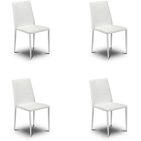Homebase Plastic Chairs by Hygena White Chair