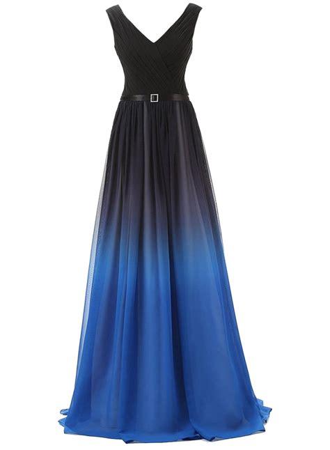 s color block dresses color block v neck ruffled pattern floor length prom