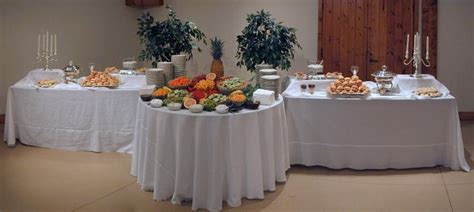 Wedding Reception Food Table Setups   Brief Description of