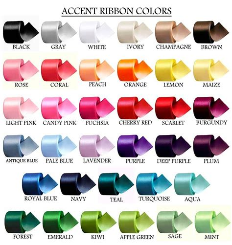 ribbon color color chart