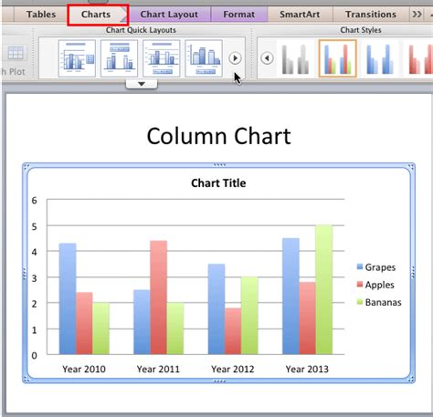 powerpoint quick tutorial quick layouts for charts in powerpoint 2011 for mac