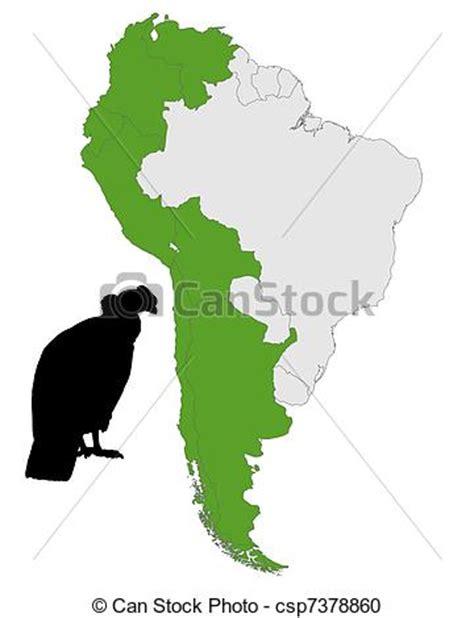andean condor distribution royalty free vector clipart of andean condor distribution csp7378860