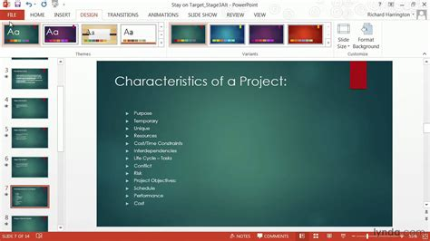 Powerpoint Tutorial How To Change Templates And Themes Lynda Com Youtube How To Change Template In Powerpoint